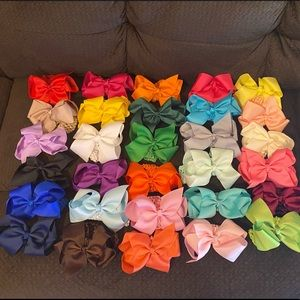 """30 6"""" Bow Headbands for Baby & Toddler"""